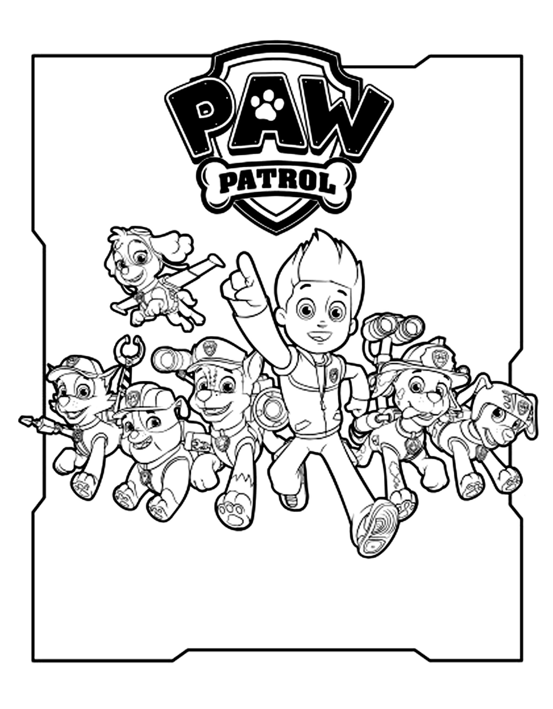 paw patrol free to color for kids  paw patrol kids