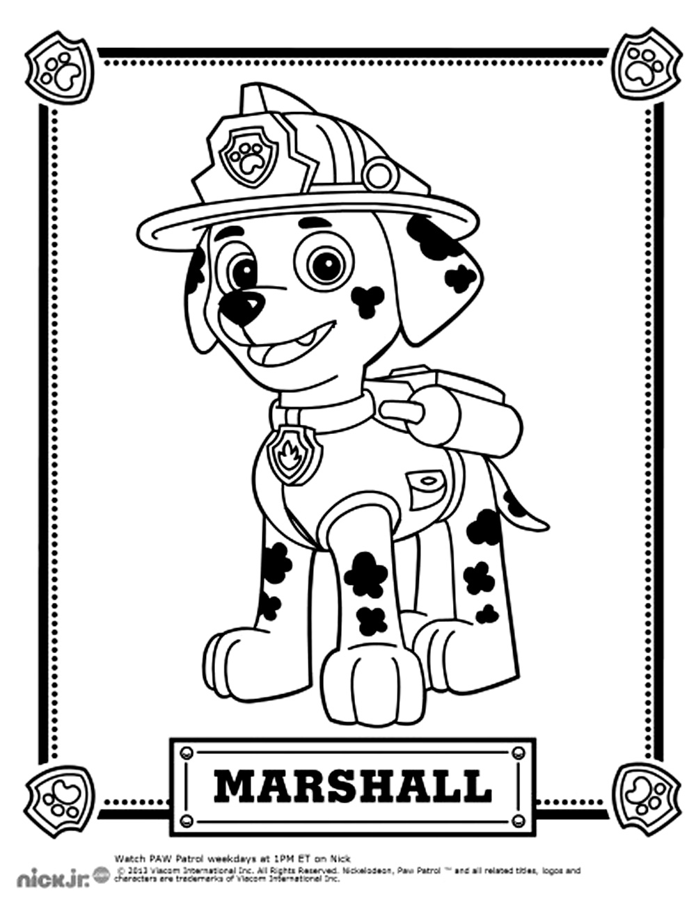 photo relating to Paw Patrol Printable Pictures referred to as Paw patrol free of charge in the direction of coloration for little ones - Paw Patrol Children Coloring