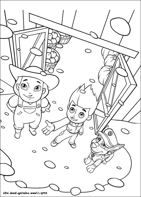 Simple Paw Patrol coloring page to print and color for free