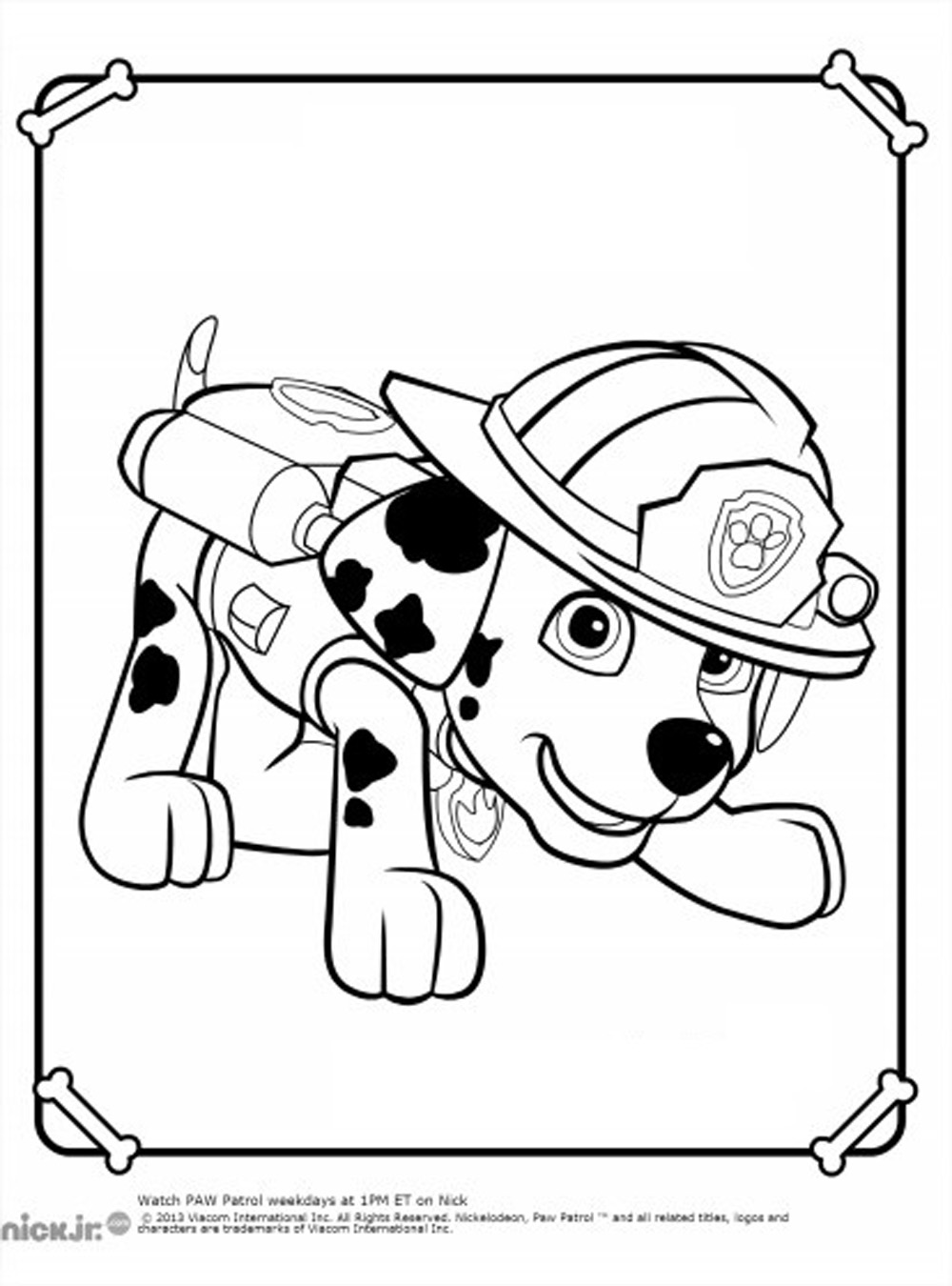 Free Paw Patrol coloring page to download