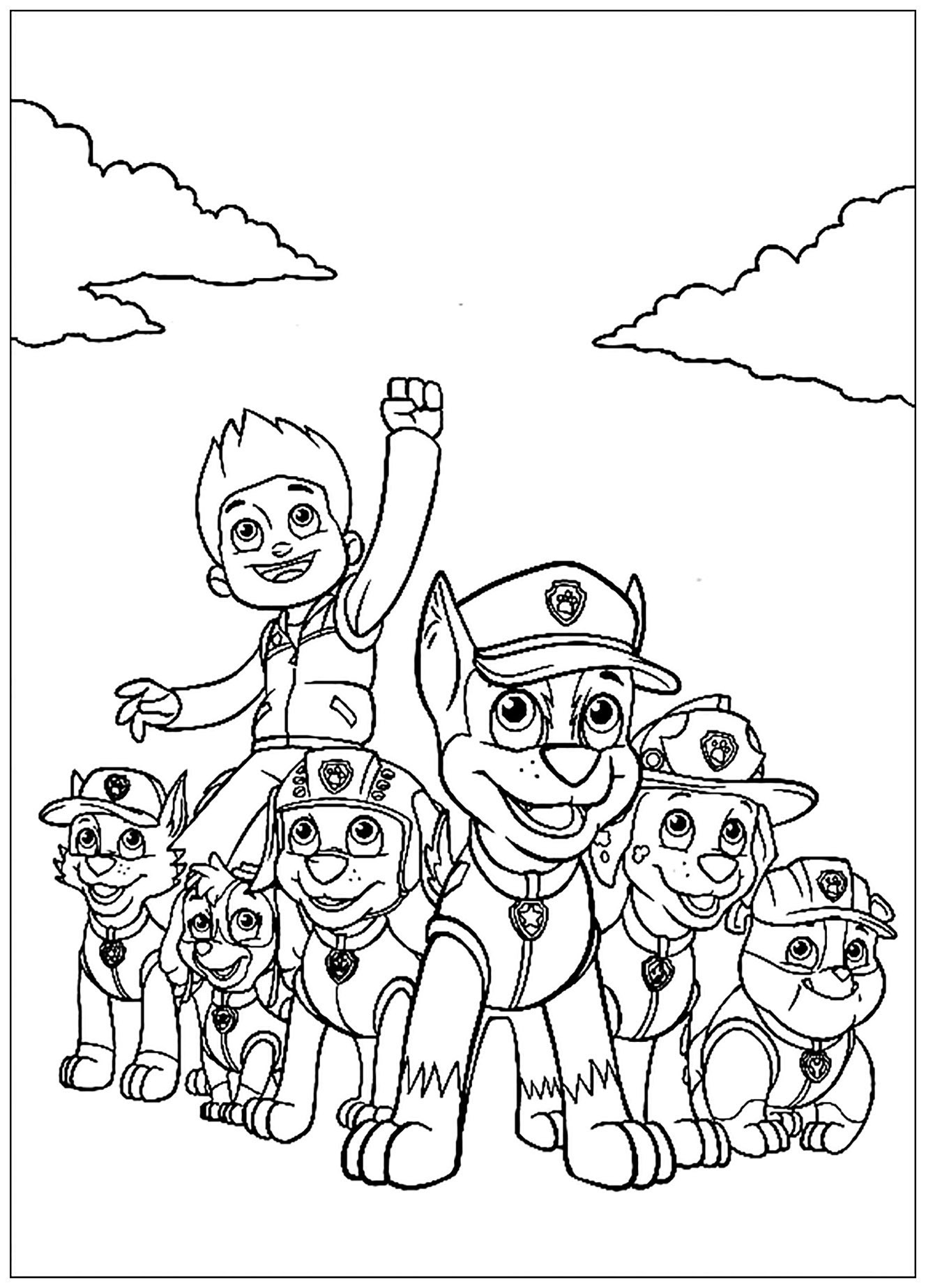 Paw Patrol For Children - Paw Patrol Kids Coloring Pages