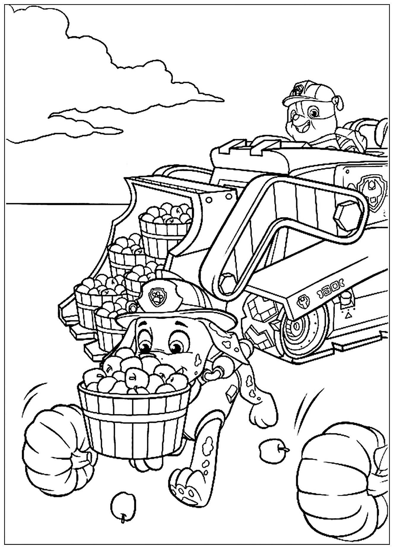 Simple Paw Patrol coloring page
