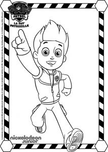 Coloring page paw patrol free to color for children