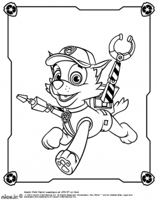 Coloring page paw patrol free to color for kids