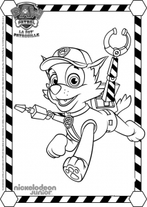 Coloring page paw patrol for children