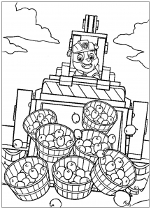 Coloring page paw patrol for kids