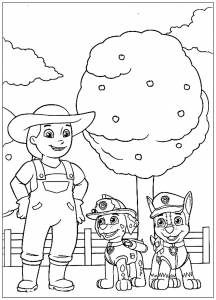 Coloring page paw patrol to color for children