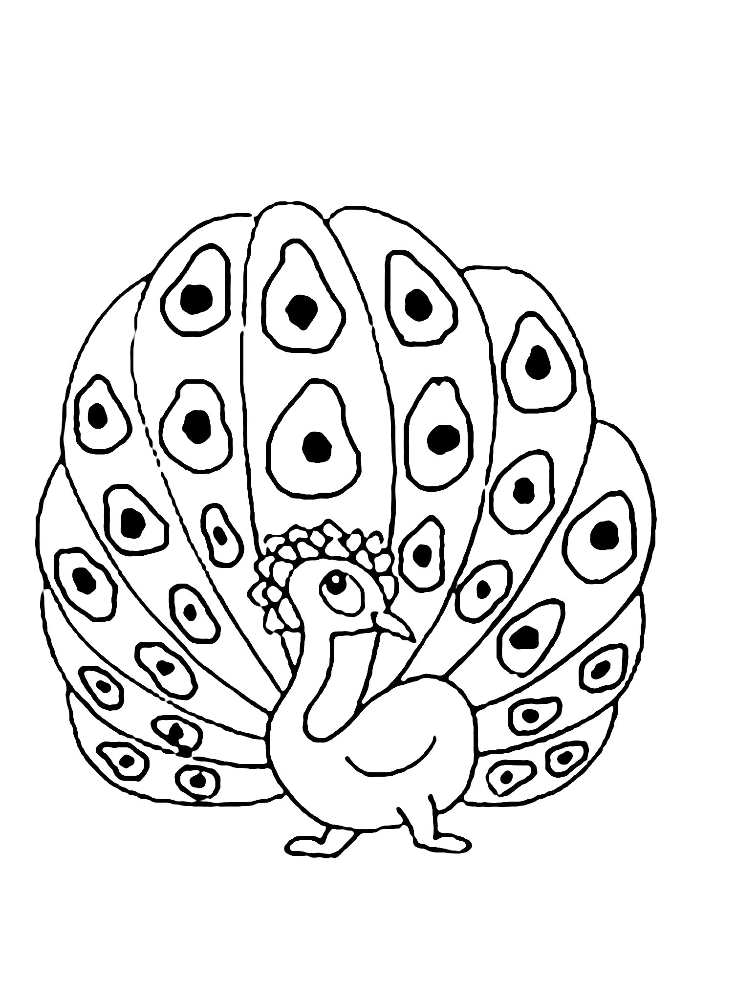 Peacocks To Download For Free Peacocks Kids Coloring Pages