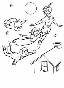 Coloring page peter pan to print for free