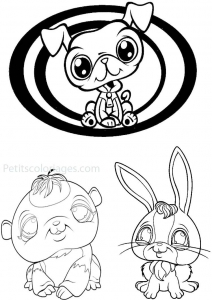 Coloring page petshop for kids