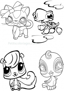 Coloring page petshop for children