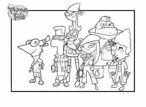 Coloring page phineas and ferb to download for free