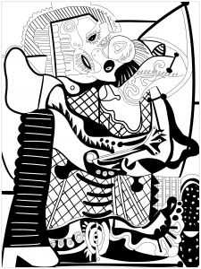 Coloring page pablo picasso to download for free