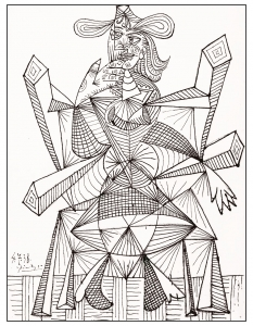 Coloring page pablo picasso free to color for children