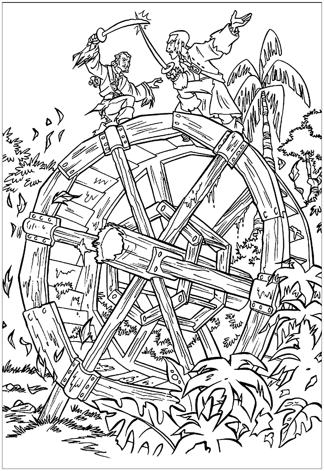 Pirates of the Caribbean coloring page to download for free