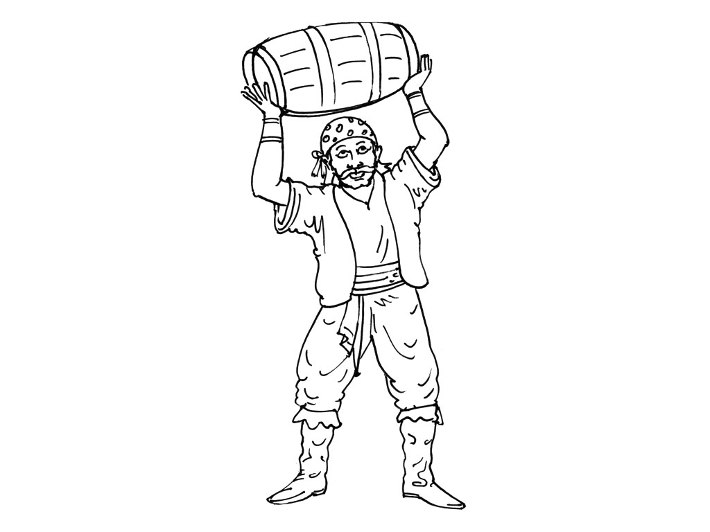 Funny Pirates coloring page