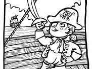 Pirates Coloring Pages for Kids