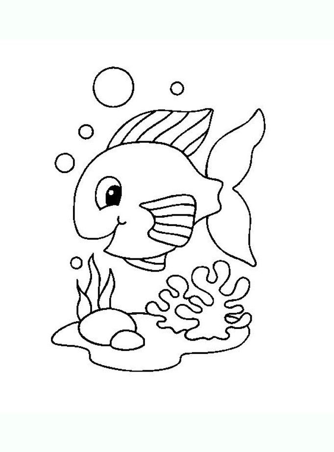 Simple Pisces coloring page for kids