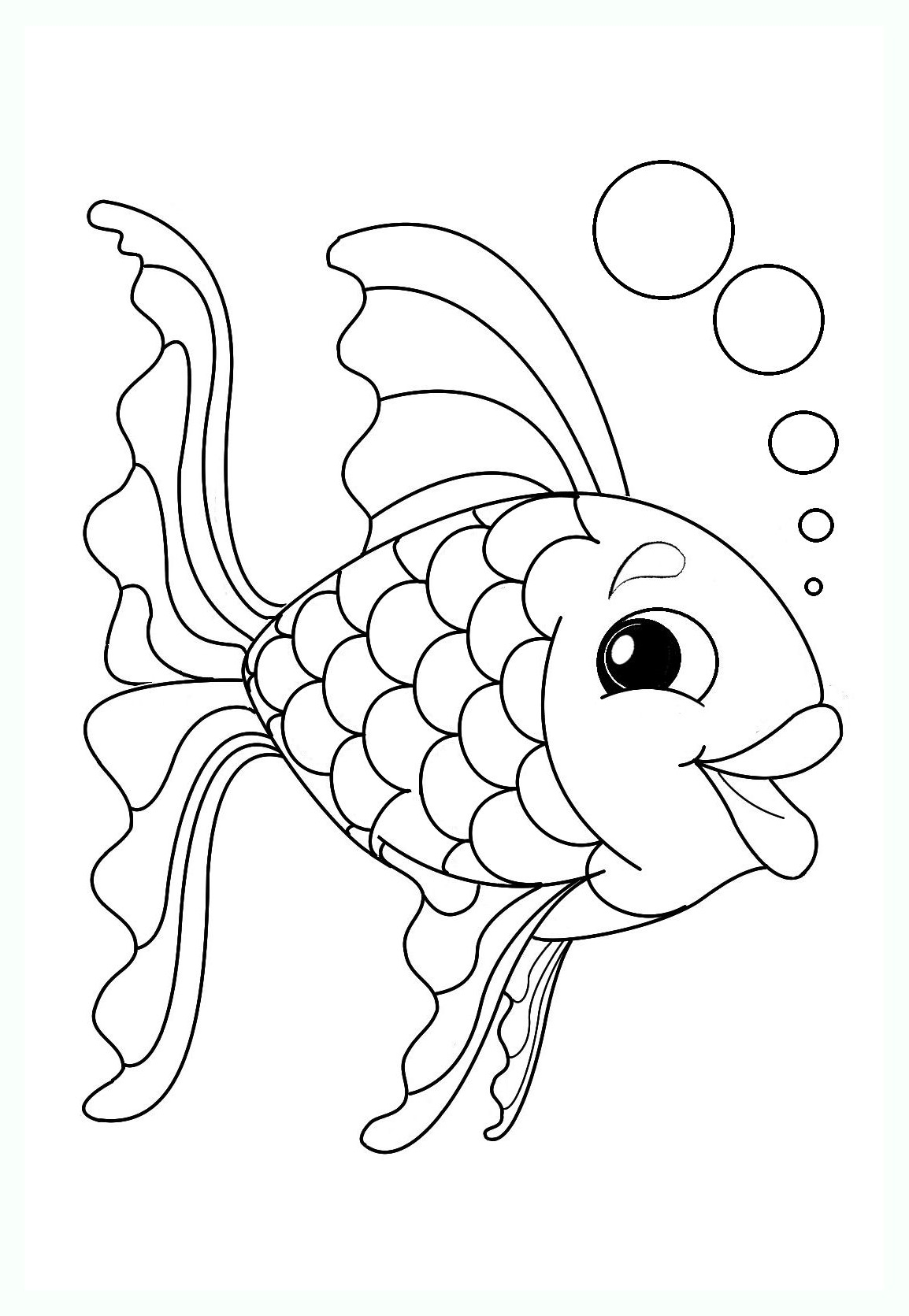 Funny Pisces coloring page for children