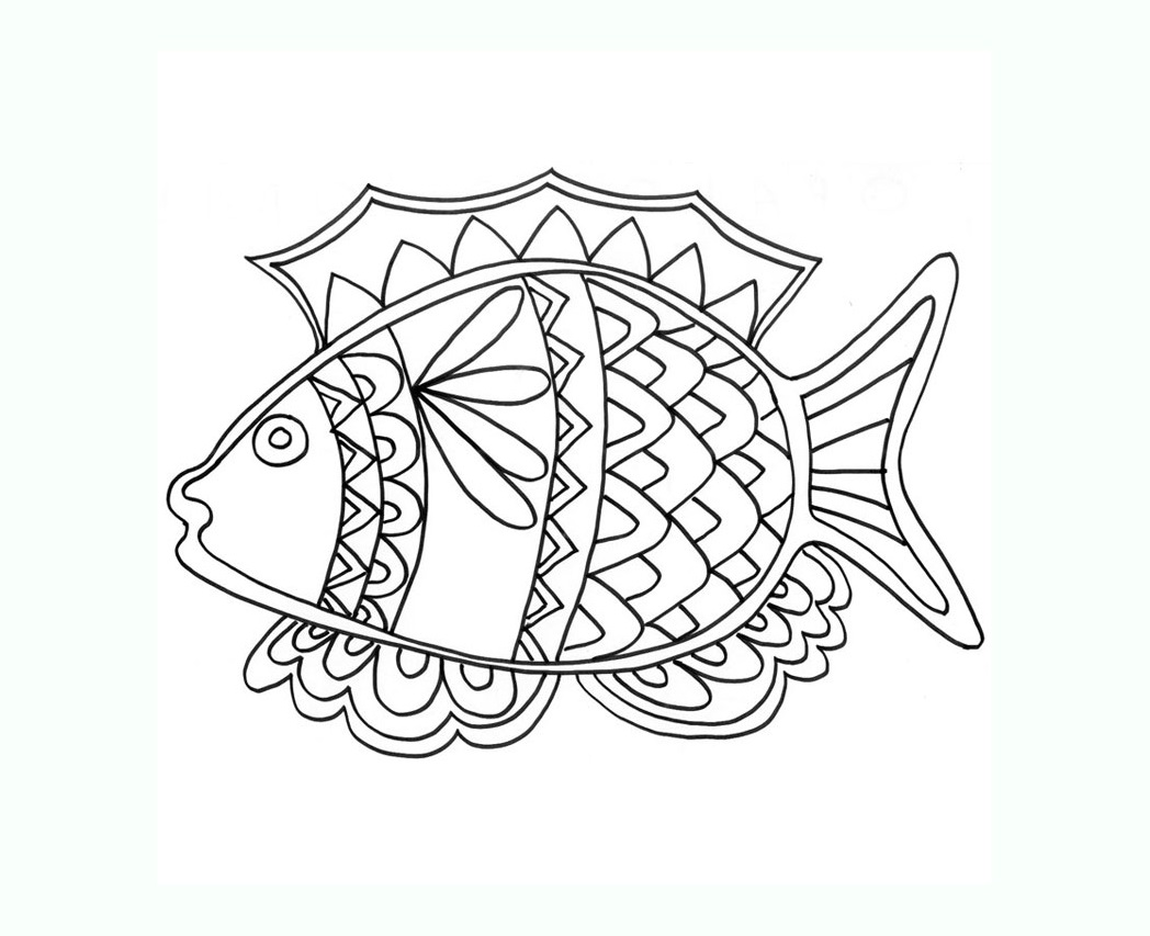 Cute free Pisces coloring page to download
