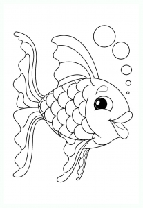 Coloring page pisces to print for free