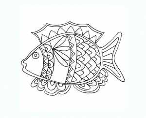 Coloring page pisces to color for kids