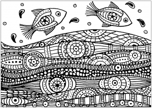 Coloring page pisces free to color for kids