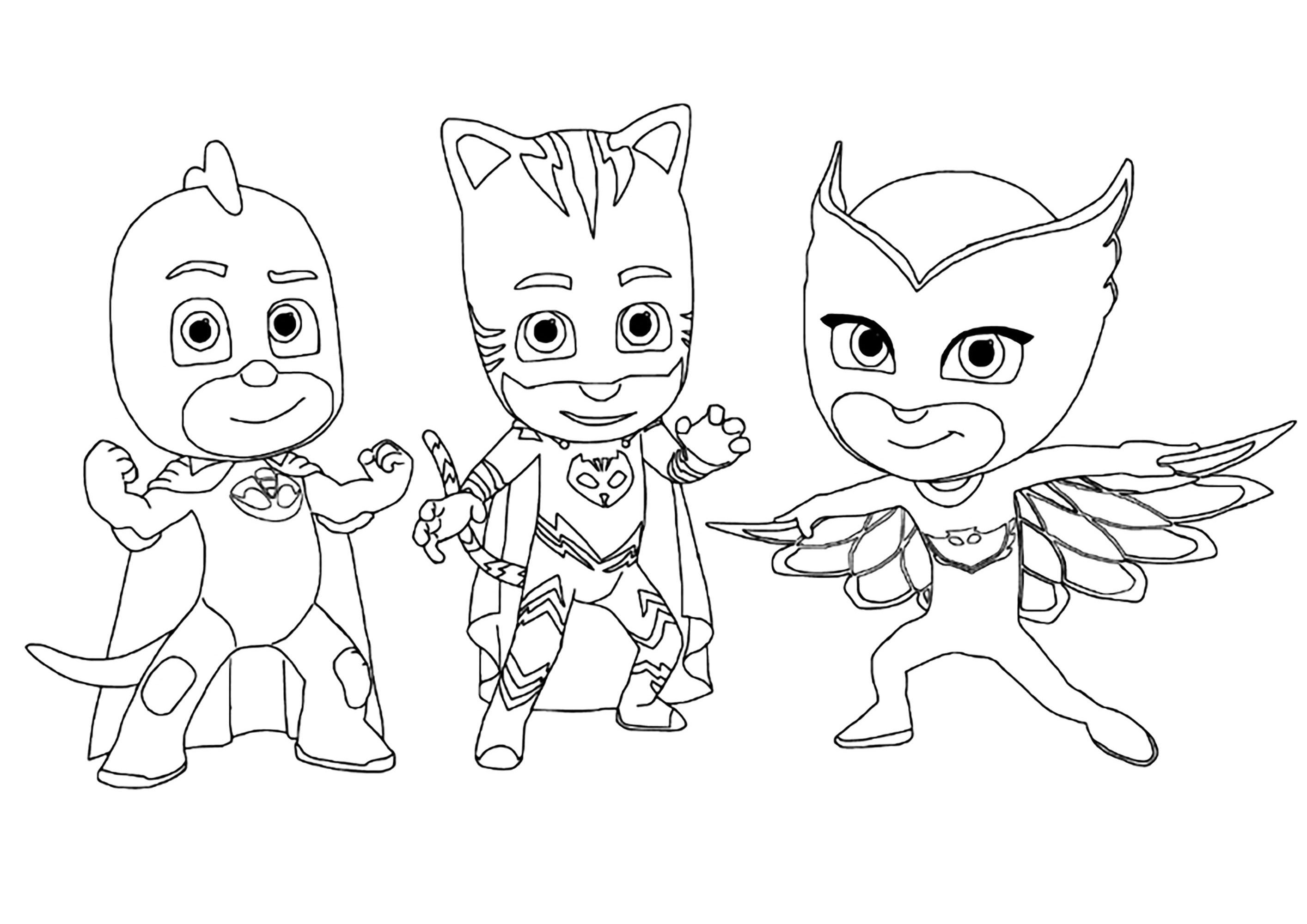 - Pj Masks For Children - PJ Masks Kids Coloring Pages