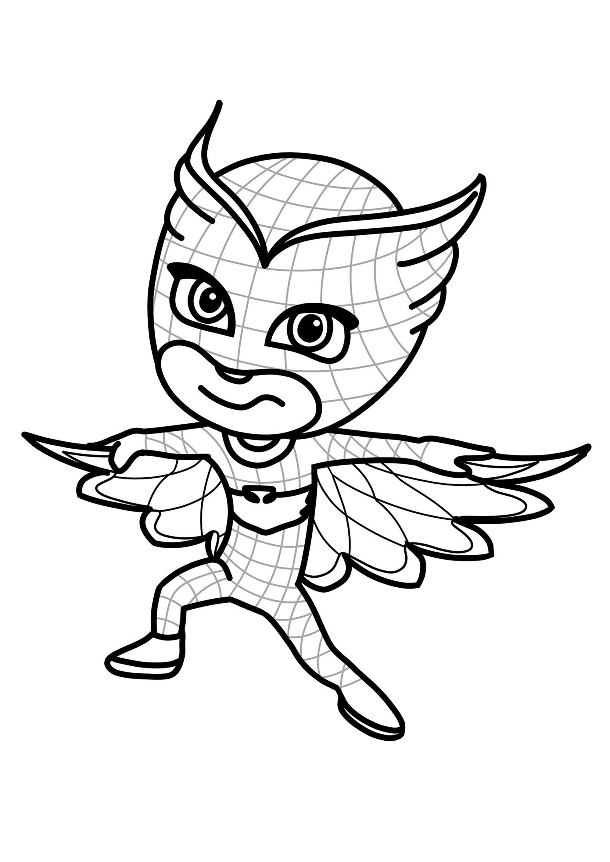 Easy free PJ Masks coloring page to download