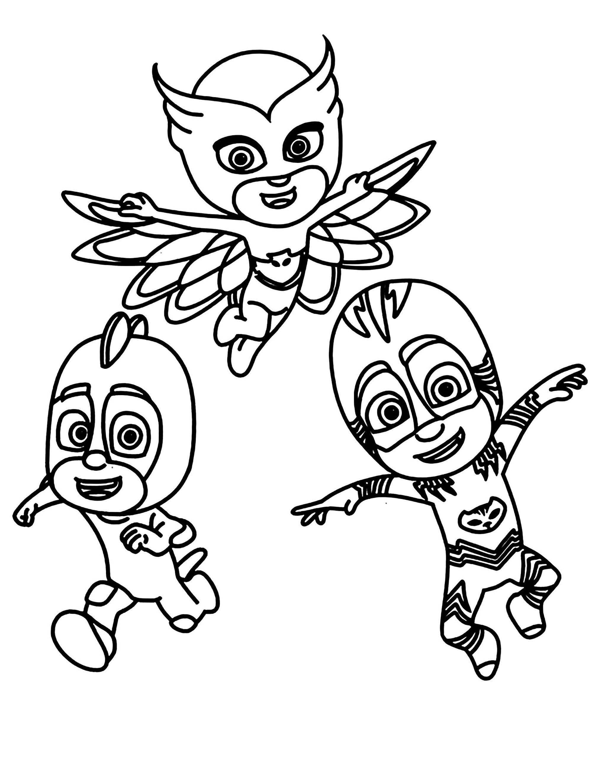 PJ Masks coloring page to print and color
