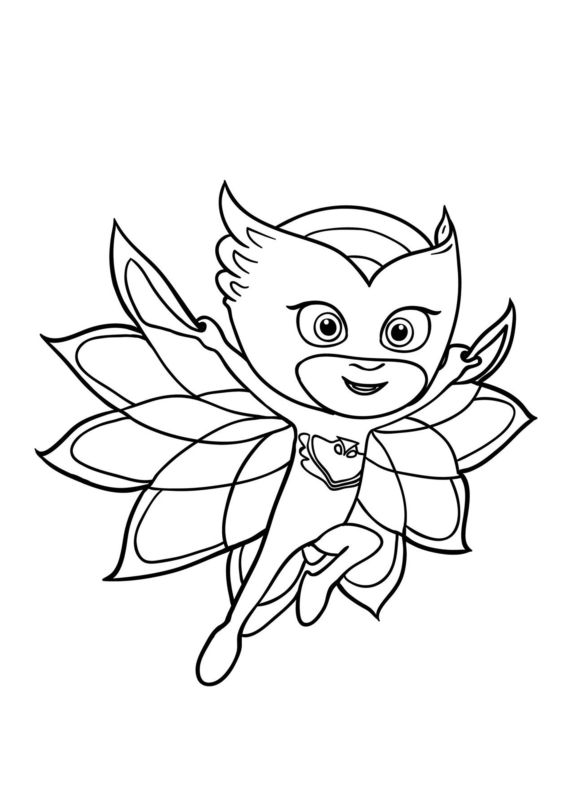PJ Masks coloring page to print and color for free