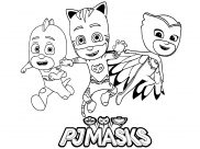 PJ Masks Coloring Pages for Kids