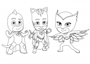 photograph about Printable Pj Masks Coloring Pages titled PJ Masks - No cost printable Coloring internet pages for little ones