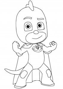 Coloring page pj masks free to color for kids
