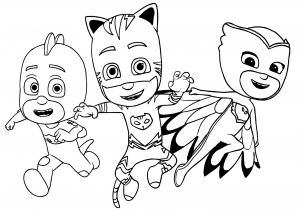 Coloring page pj masks to print for free