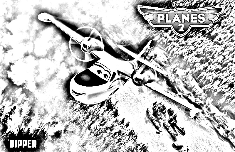 Planes 2 coloring page to download for free
