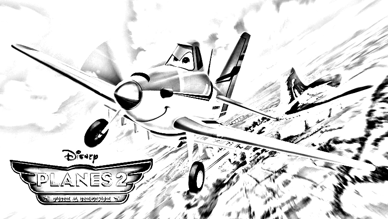 Funny Planes 2 coloring page for children