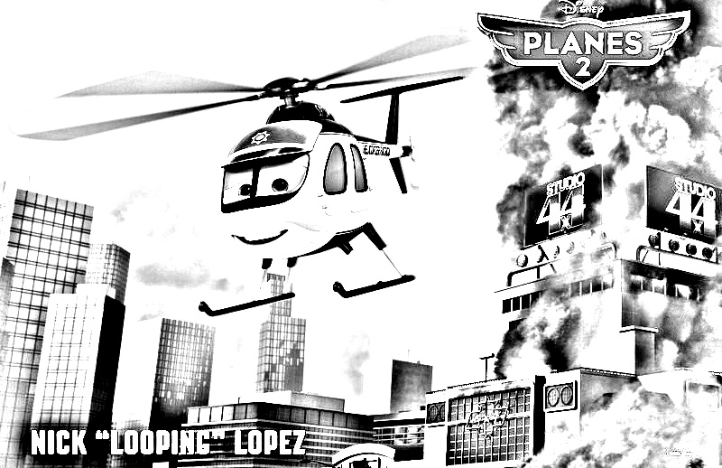 Planes 2 coloring page to download