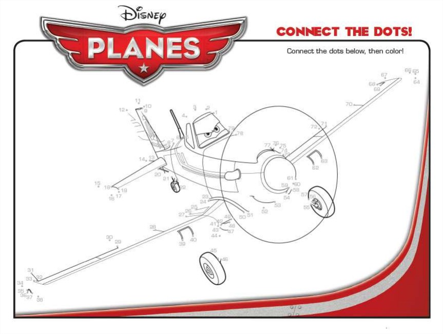 Free Planes coloring page to print and color