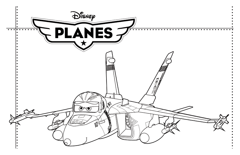 Planes coloring page to print and color