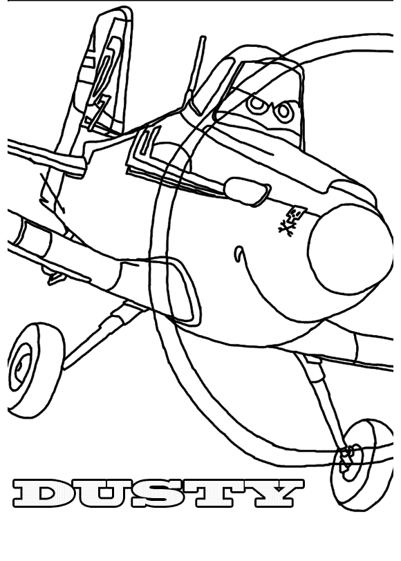 Planes coloring page to download