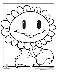 Funny free Plants Vs Zombies coloring page to print and color