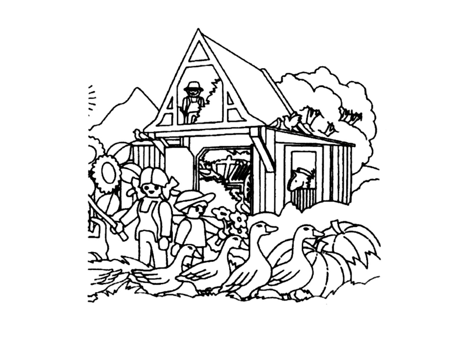 Incredible Playmobils coloring page to print and color for free