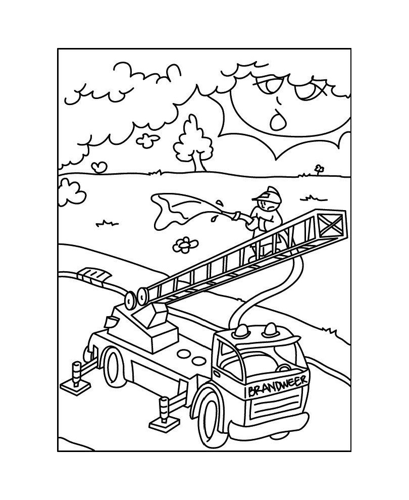 Playmobils coloring page with few details for kids