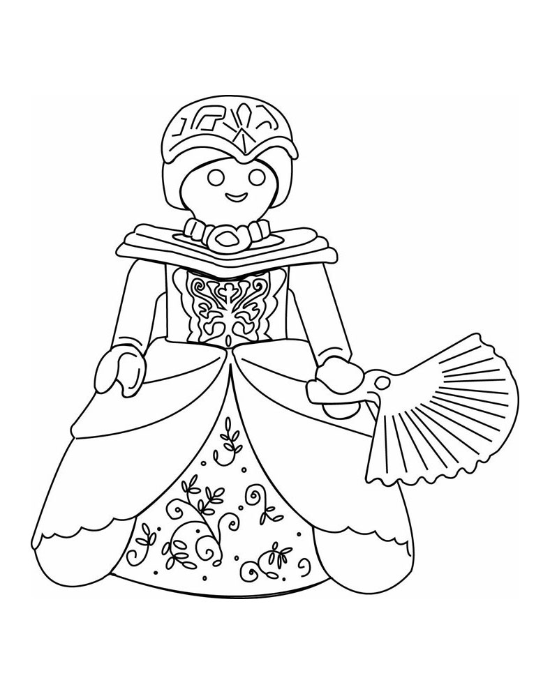 Easy free Playmobils coloring page to download