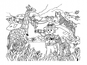 Coloring page playmobils to print