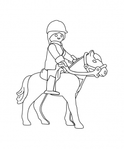 Coloring page playmobils for children