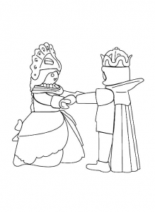 Coloring page playmobils to print for free
