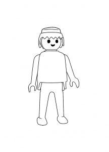 Coloring page playmobils to color for kids