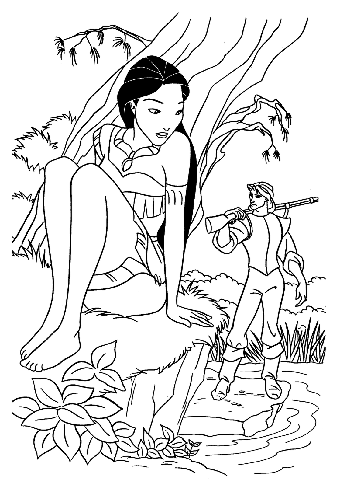 Pocahontas for children - Pocahontas Kids Coloring Pages